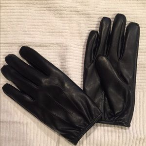 Other - Black leather gloves